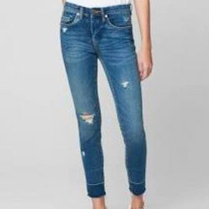BLANK NYC The Reade Crop Skinny Jeans Distressed
